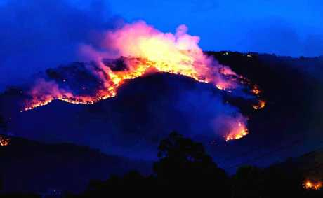 Image taken by Morning Bulletin reader of Mt Archer of the controlled burn-offs.