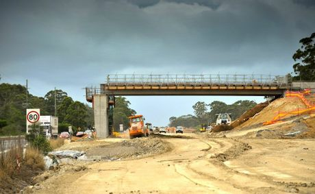 Progress on the Sapphire to Woolgoolga upgrade.