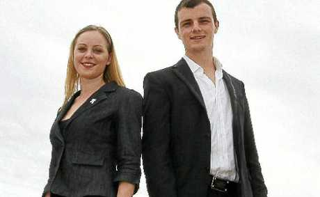 Young council hopefuls, Cassie Champion, 20, (Division 4) and Rhys Reynolds, 21, (Division 1).