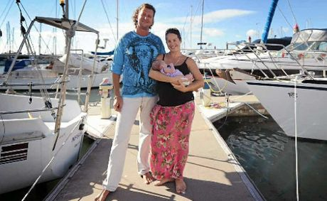 Lloyd and Mandie Burgess welcome their new daughter Heidi Violet, born on April 21, at the Gladstone Hospital. The family is currently living on a yacht at the Gladstone Marina.