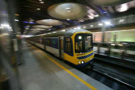 Trains at Britomart, Auckland