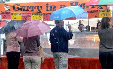 The weather wasn't kind to Curryfest after a highly publicised backlash over the event's future last week.