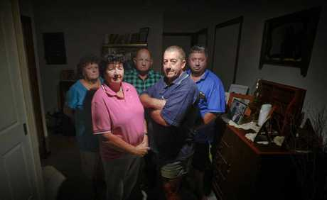 Wooli residents (from left) Bonnie Leyshorn, Dot Chorley, Bruce Leyshon, Pay Chorley and Robert Carrigan have battled persistent blackouts in the area during the past week.