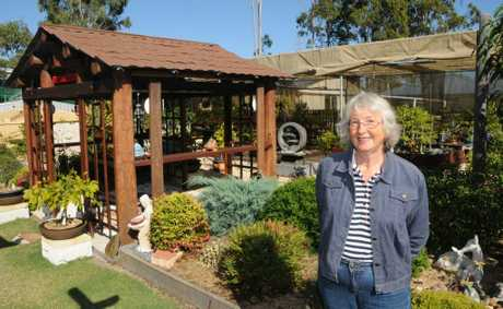 Gloria's garden was the joint winner of Best Small Garden in the garden competition.