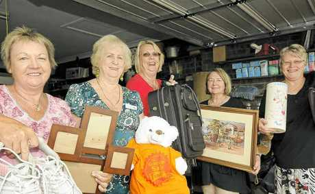 BARGAINS GALORE: Gearing up for Saturday's Garage Sale Trail are members of the social group, the Caffe Club – Maryanne Smidt, Robyn Eggins, Merelie Golding, Robina Browning and Daphne Joyce – who will be supporting Northern Rivers Animal Services.