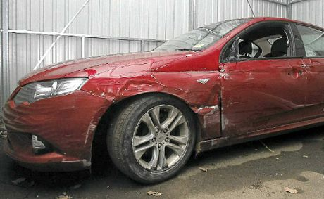 The Ford Falcon XR6 involved in Tuesday's chase on the Ballina bypass.
