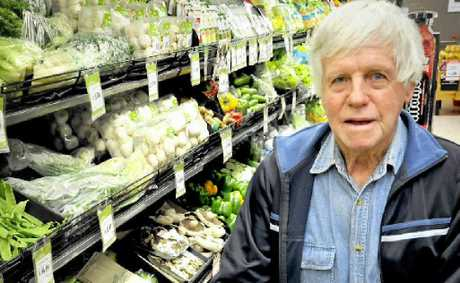 Cotswold Hills resident Terry Wall shops at IGA Bridge St because he likes to support independent grocers.