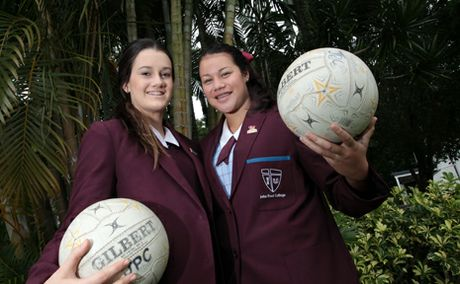 WELL DONE: Briony Payne, 16 and Courtney Kapper, 17, have been selected into the Australian under 17's netball team.