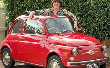 Marg Sullivan will display her beloved Fiat 500 Bambino at the David Hack Classic Meet.