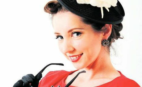 Back in Fashion: Elyan Shotbolt was runner up in her first Miss Pin Up competition.