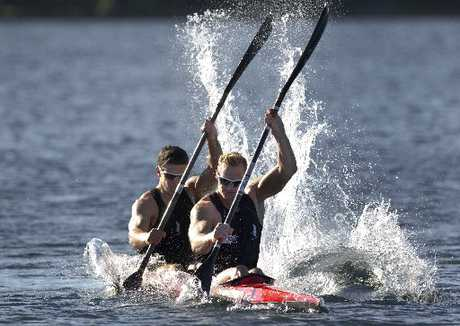 Steven Ferguson (front) and Darryl Fitzgerald will head to Lake Como in Italy after the forthcoming World Cup regattas to fine-tune their performance for London.