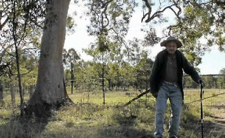 Kevin Thumpkin is campaigning to protect a koala habitat.