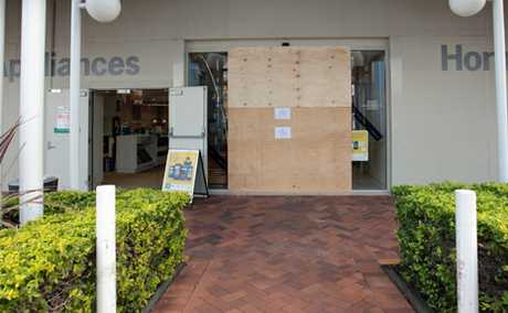 ANOTHER RAM RAID: Harvey Norman at the Hyperdome Home Centre was the latest target of a ram-raid attack