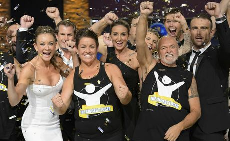 Margie Cummins, second from left, is the 2012 winner of The Biggest Loser.