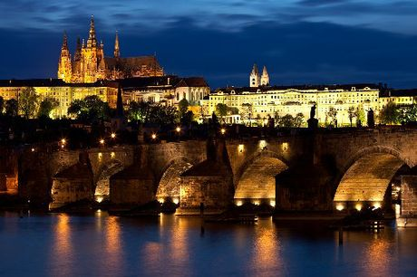 The Castle, itself a destination of special appeal, looks over the majestic buildings of Prague.