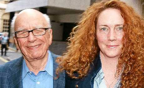 TOP DOG: Rupert Murdoch and former Chief Executive of News International, Rebekah Brooks.