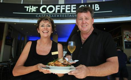 Julie-Anne Lean and Russell Billson at Coolangatta Coffee Club.