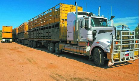 ROLLING ALONG: Research shows road trains with tri-axle dollies are more controllable at higher speeds.