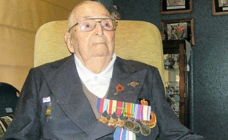 LEST WE FORGET: Former Royal Australian Navy sailor, Ballina's Len Nordlund, a veteran of the Battle of the Coral Sea.