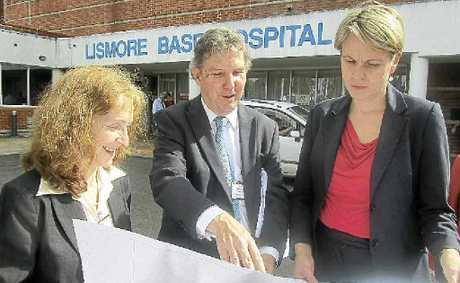 GRAND PLANS: Page MP Janelle Saffin, Northern NSW Local Health District chief executive Chris Crawford and Health Minister Tanya Plibersek at the announcement of $60 million for improvements to the hospital.