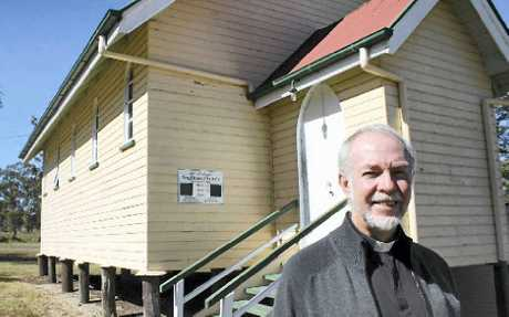 The Reverend Rod Winterton at the soon-to-be-closed St Aidan's Anglican Church, Tannymorel.