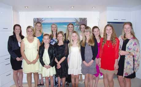 This year's entrants into Coffs Harbour Miss Showgirl, Miss Teen and Miss Junior Showgirl competitions.