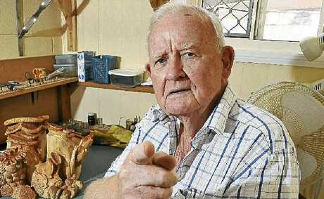 Arthur 'Nobby' Clark points the blame at Bundaberg Regional Council for the mistreatment of his display, Denizens of the Deep.