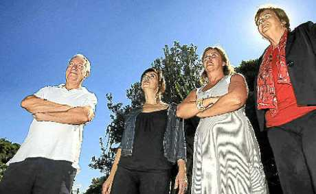 Fingal residents Paul Fagan, Dawn Walker, Karen Morrison and Helen Twohill are annoyed about flight noise.