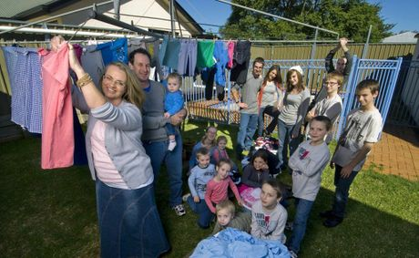 Toowoomba's Bonell family has one of Australia's busiest washing machines.
