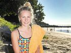 Ruby Elder used her studies to raise money for cancer by swimming 16km in Hervey Bay waters.