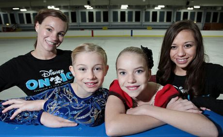 ICE COLD: Jenna Leffert, Grace Caley, 10, Isabelle McKewen, 13, Ashley Mandapat at Iceworld, Acacia Ridge.