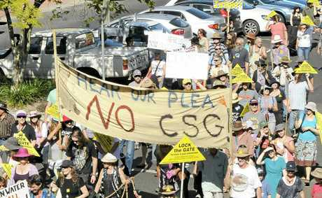 A reported 7000 people marched through Lismore during that city's Rock the Gate anti-CSG rally