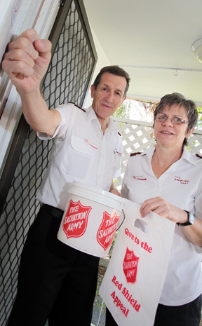RED SHIELD: Dennis and Sue McGuigan will be kicking off the Salvation Army's Red Shield Appeal this weekend.