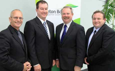 MBRC councillors Gary Parsons, Peter Flannery, Deputy Mayor Greg Chippendale and Adrian Raedel.