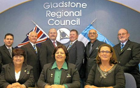 Gladstone Regional Council was sworn in yesterday. (Back row) Deputy Mayor Matt Burnett, Col Chapman, Rick Hansen, Leo Neill-Ballantine, Ren Lanzon, Graham McDonald, (front row) Maxine Brushe, Mayor Gail Sellers and Karen Porter.