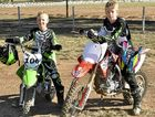 Sam and Nic Steketee at Morgan Park for motocross practice on Sunday.