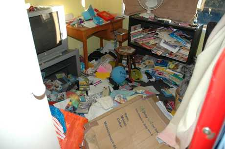 The contents of every drawer, wardrobe and cupboard were strewn throughout the house.