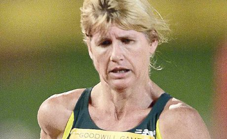 GOLDEN GIRL: Ballina's Kerry Saxby-Junna, pictured competing in the Goodwill Games in 2001, will lead this Sunday's charity walk for the rescue helicopter.