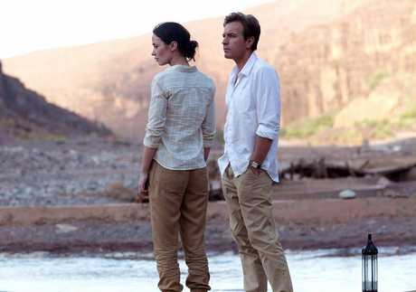 Ewan McGregor and Emily Blunt in Salmon Fishing in the Yemen.