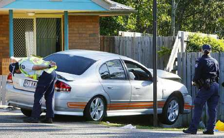 The man who crashed his car into a fence at Brassall after having a heart attack has died.