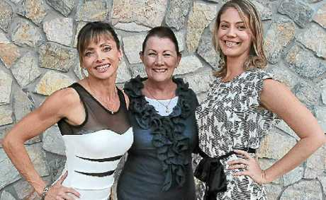 Serena Keenan, centre, with Rita Malone and Lija Primmer. Serena needs models for parades at the Sunshine Coast Show.