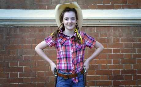 Dressed as Annie Oakley, Erin Higgins competed on the final day of Toowoomba Eisteddfod.