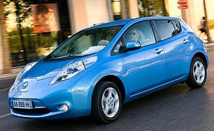 Suitability test ... Nissan's new Leaf electric car.