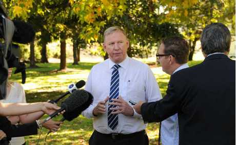 Jeff Seeney in the Mary Valley this month promising speed and fairness.