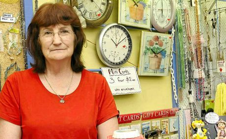 I DON'T WANT TO GO: La Boutique owner Mary Richards survived 'the recession we had to have' in the late 1980s, but has been forced to closer her store's doors after 12 months of just paying the rent. She fears for the future of Ballina CBD.