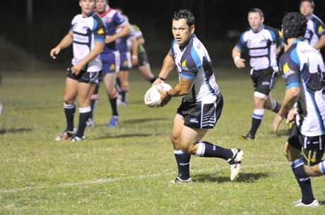 Biloela&#39;s Francis Reid leading the attack against Calliope Rooster last weekend. Photo Christopher Chan / The Observer