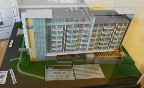 The model of the proposed Oaks Hotel.