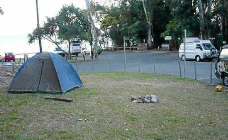 A resident took these photos of freeloading campers – and their mess.