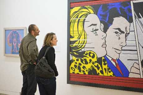 Roy Lichtenstein, In the Car, 1963. Oil on magna on canvas. Scottish National Gallery of Modern Art© Trustees of the National Galleries of Scotland.