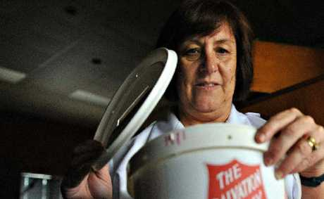 Salvation Army Major Heather Unicomb thinks this year's Red Shield Appeal takings are down because people have been doing it tough.